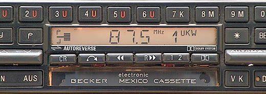 BECKER MEXICO CASSETE ELECTONIC be0753 code