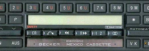 BECKER MEXICO CASSETE ELECTONIC be0794 code