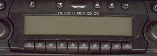 BECKER MEXICO CC be4370 code