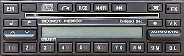 BECKER MEXICO CD be0876 code