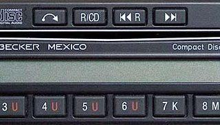 BECKER MEXICO CD be0881 code