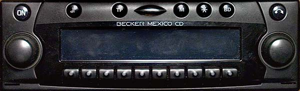BECKER MEXICO CD be4337 code