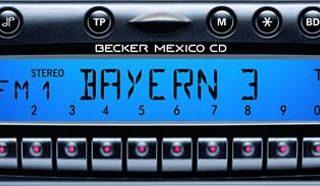 BECKER MEXICO CD be7803 code