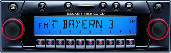 BECKER MEXICO CD be7803 code
