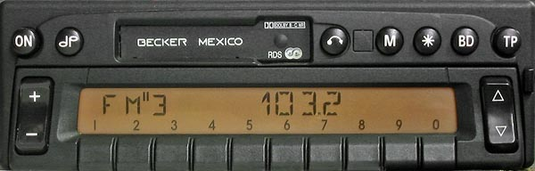 BECKER MEXICO RDS panel BE2330 code