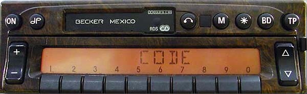 BECKER MEXICO RDS panel woody be2330 code