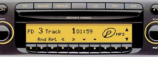 BECKER MONZA MP3 be7886 code