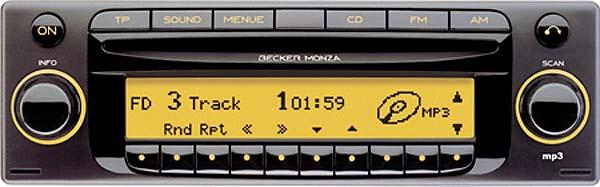 BECKER MONZA MP3 be7886 code