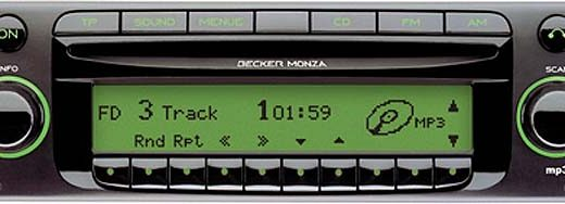 BECKER MONZA MP3 be7889 code