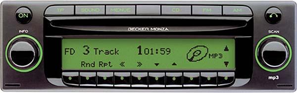 BECKER MONZA MP3 be7889 code