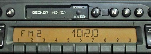 BECKER MONZA RDS panel be2130 code