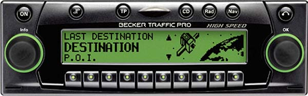 BECKER TRAFFIC PRO HIGH SPEED be7823 code