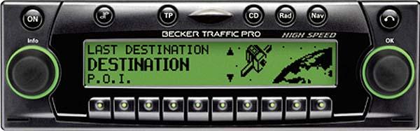BECKER TRAFFIC PRO HIGH SPEED be7823 code