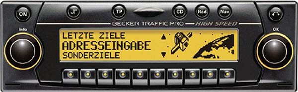 BECKER TRAFFIC PRO HIGH SPEED be7824 code