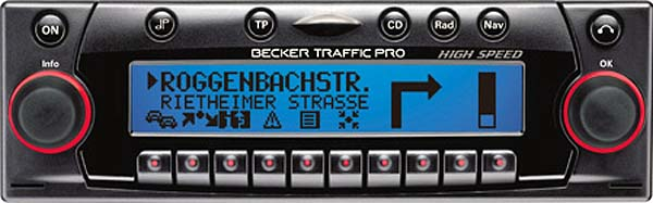 BECKER TRAFFIC PRO HIGH SPEED be7825 code