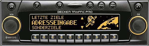 BECKER TRAFFIC PRO be4720 code