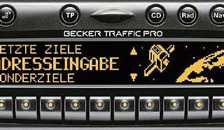 BECKER TRAFFIC PRO be4721 code