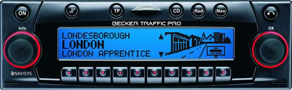 BECKER TRAFFIC PRO be4725 code