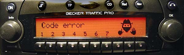 BECKER TRAFFIC PRO be4730 code