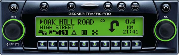 BECKER TRAFFIC PRO be4733 code