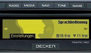 BECKER TRAFFIC PRO be7949 code