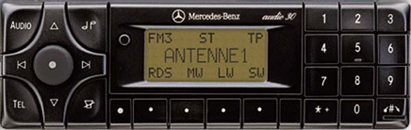 MERCEDES BENZ AUDIO 30 APS be3308 code