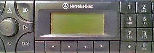 MERCEDES BENZ AUDIO 30 be3302 code