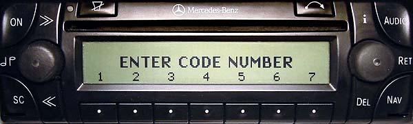 MERCEDES BENZ AUDIO 30 APS be4700 code