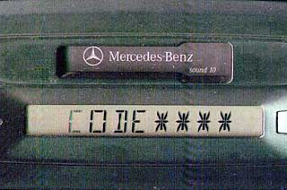 MERCEDES BENZ SOUND 10 wide panel be4103 code