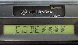 MERCEDES BENZ SOUND 20 be4513 code