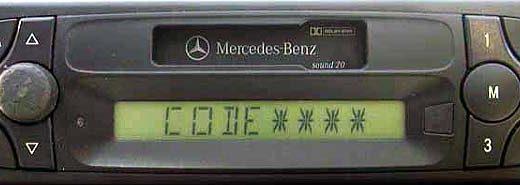 MERCEDES BENZ SOUND 20 be4513 code