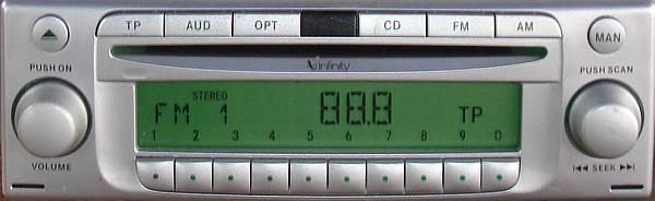 MITSHUBISHI INFINITY BECKER BE6806 CODE