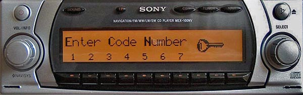 SONY MEX-100NV NAVIGATION becker BE7890 code