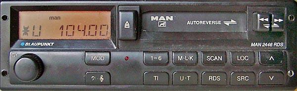 MAN 2446 RDS code BP5025 24v blaupunkt