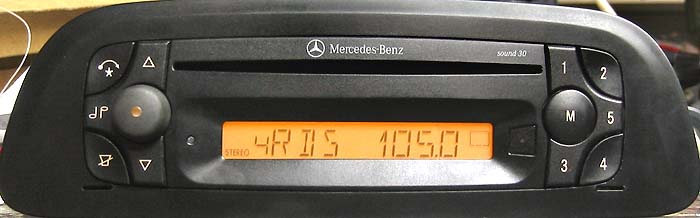 MERCEDES BENZ SOUND 30 CD wide panel be4603 code