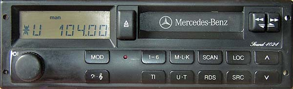 MERCEDES BENZ SOUND 4024 24v BP5001 blaupunkt code