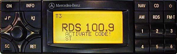 MERCEDES BENZ SPECIAL APS code BP4902 BLAUPUNKT