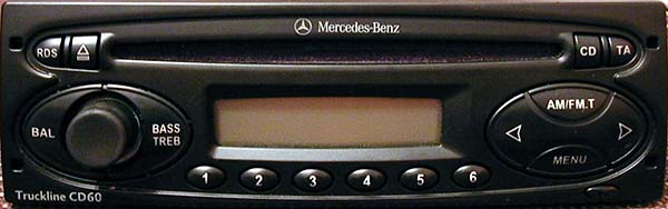 MERCEDES BENZ TRUCKLINE CD60 24v VISTEON YU3F-18C838-DB code