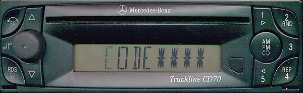 MERCEDES BENZ TRUCKLINE CD70 BE6053 24v code