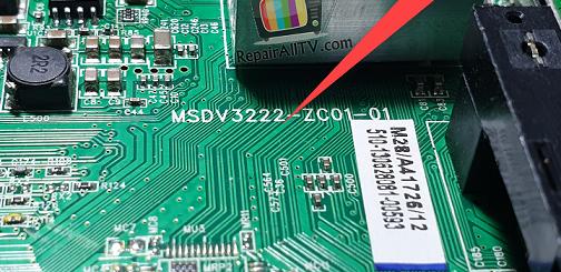 BOARD MODEL Nr. MSDV3222-ZC01-01 BIN 25L6406