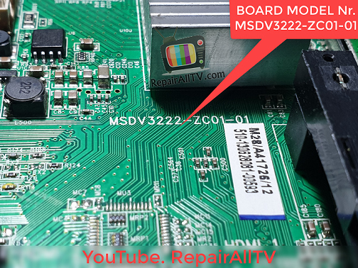 BOARD MODEL Nr. MSDV3222-ZC01-01 BIN 25L6406