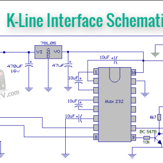 DELCO CDR500 CODE K-Line Interface Schematic
