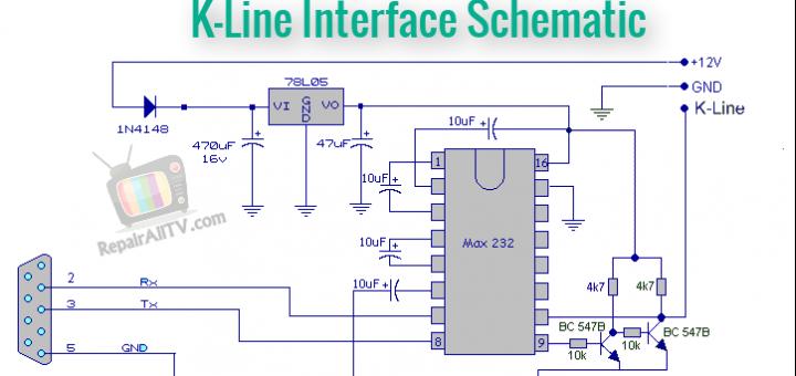 DELCO CDR500 CODE K-Line Interface Schematic