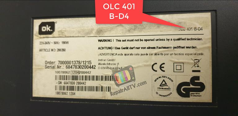 OK MODEL OLC 401 B-D4