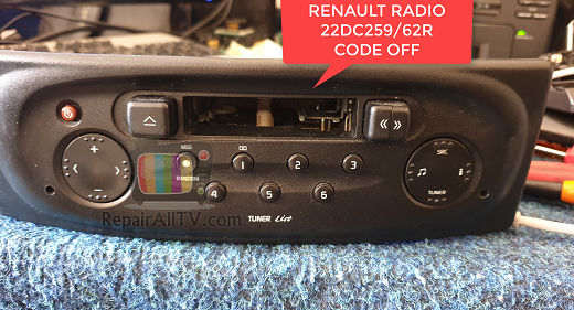 RENAULT RADIO 22DC259/62R