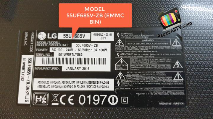 LG 55UF685V-ZB EAX66564304 emmc