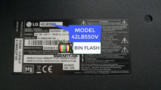LG 42LB550V EAX65388006 TC58BVG0S3HTA00
